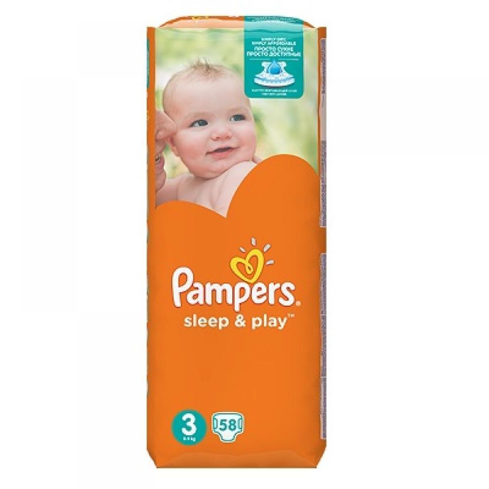 Pampers Sleep & Play 3 midi 4 - 9 kg 58 kusů