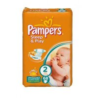 PAMPERS Sleep&Play 2 mini 3-6 kg 68 kusů