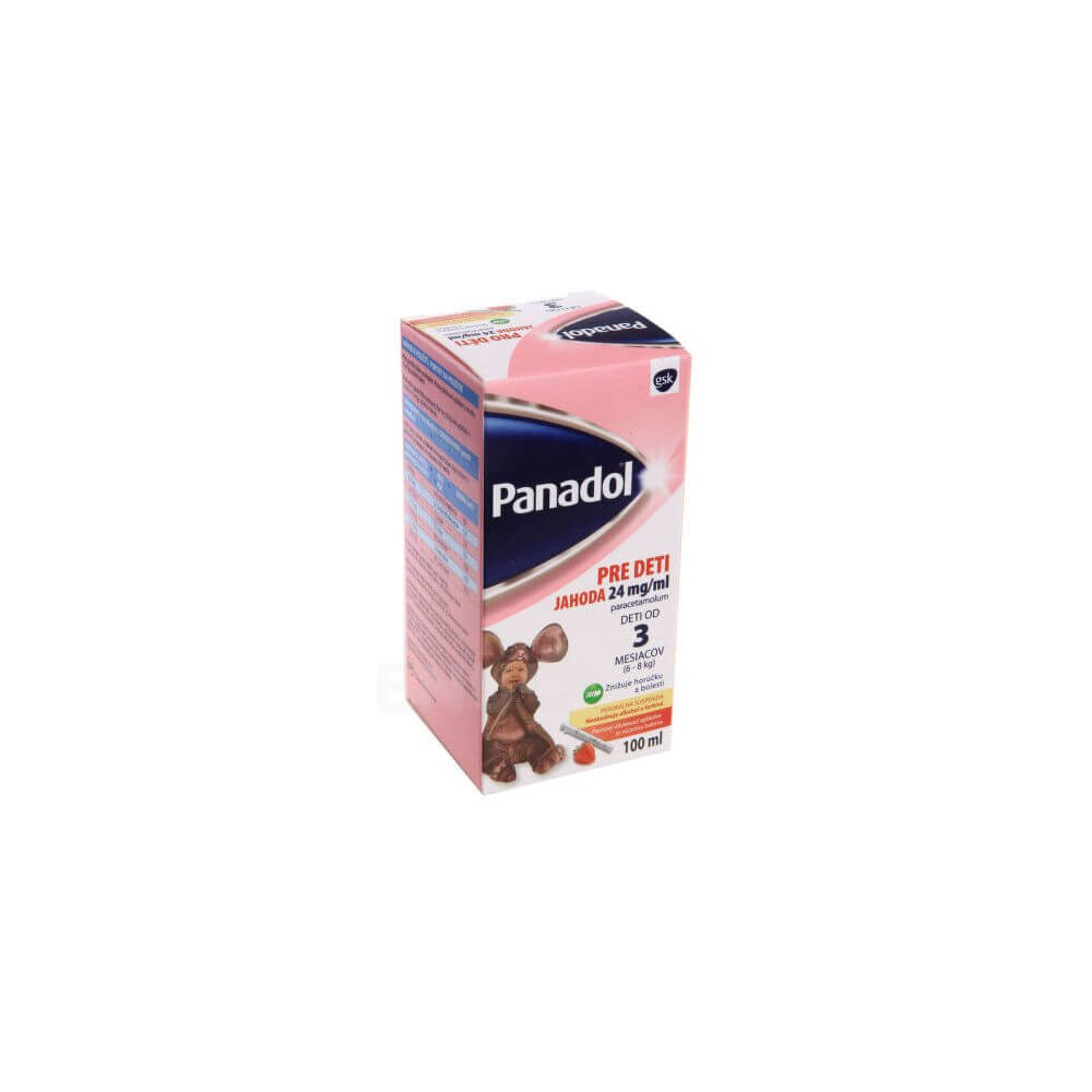 PANADOL Sirup pro děti Jahoda 100 ml