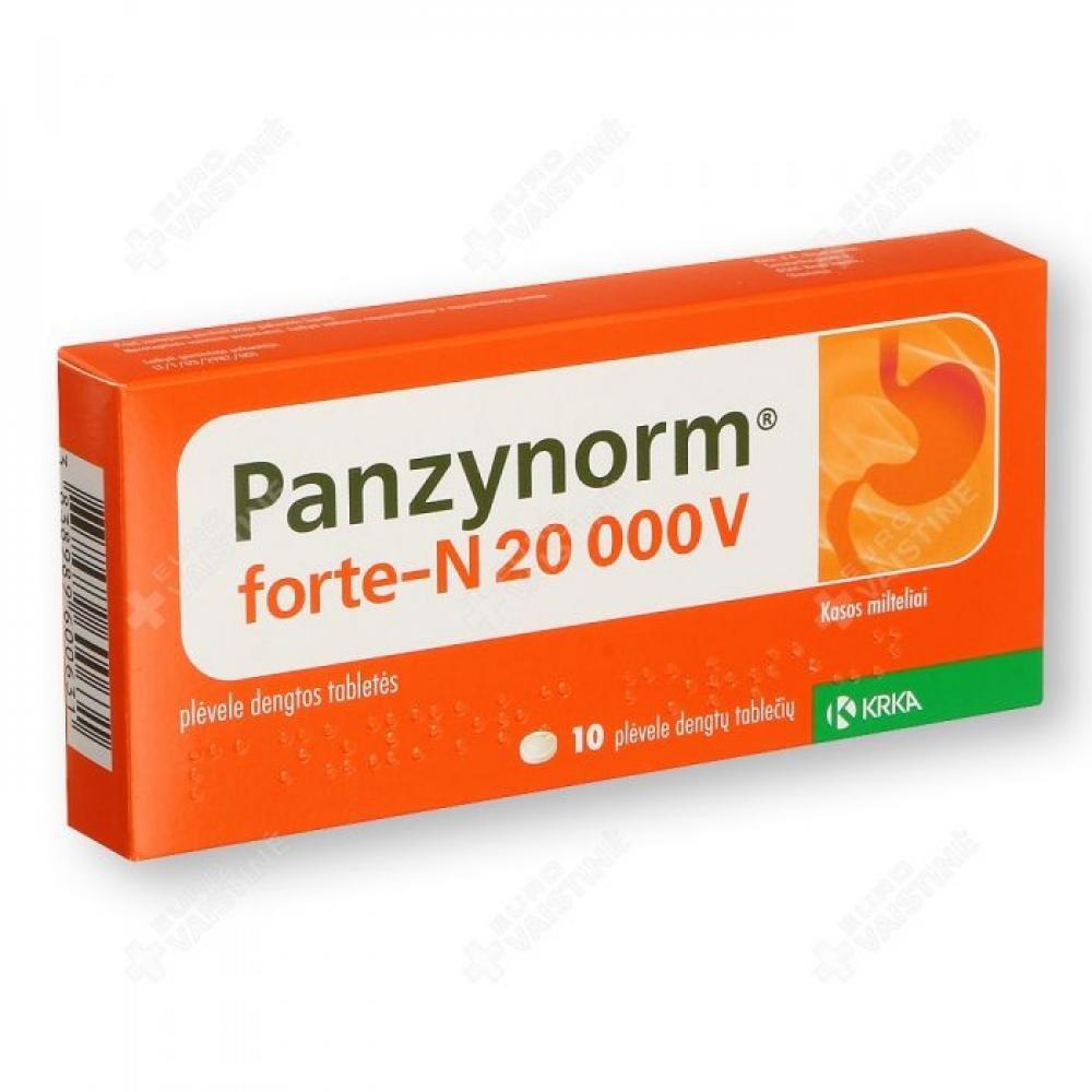 PANZYNORM FORTE-N 10 Potahované tablety