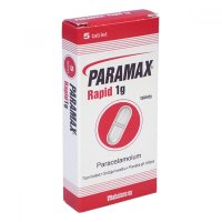 PARAMAX RAPID 1 g 1000 mg 5 tablet