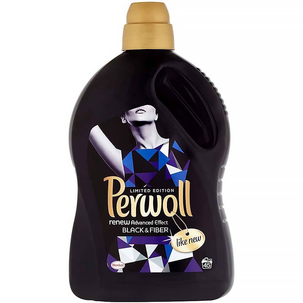 PERWOLL Black & Fiber speciální prací prostředek na černé a tmavé oblečení 45 praní 2,7 l