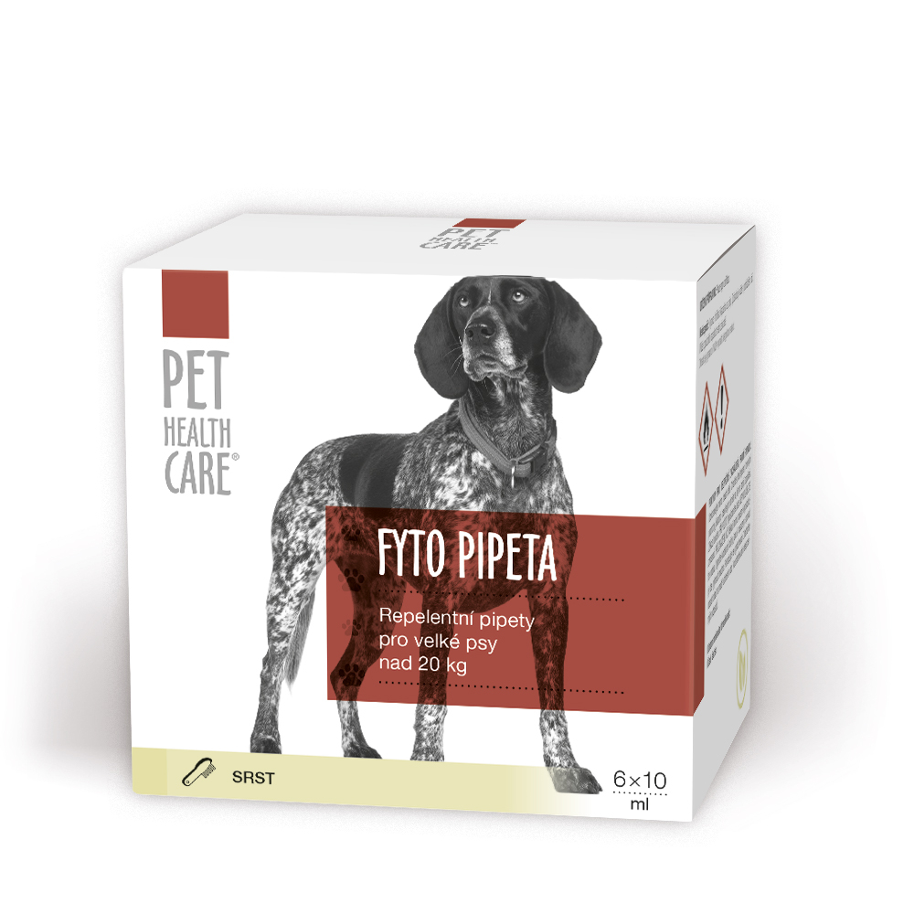 PET HEALTH CARE Fytopipeta pes od 20 kg 6x10 ml