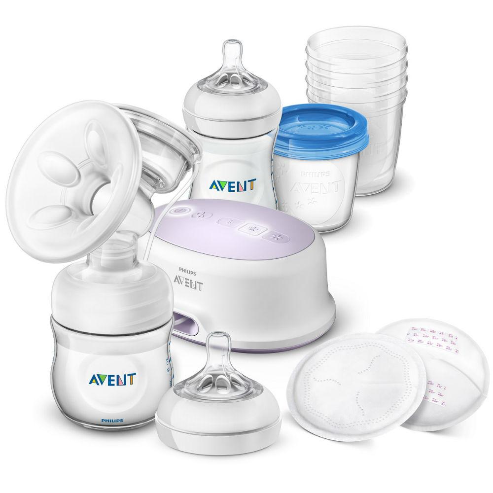 PHILIPS AVENT Odsávačka mateřského mléka Natural elektronická - sada pro kojení