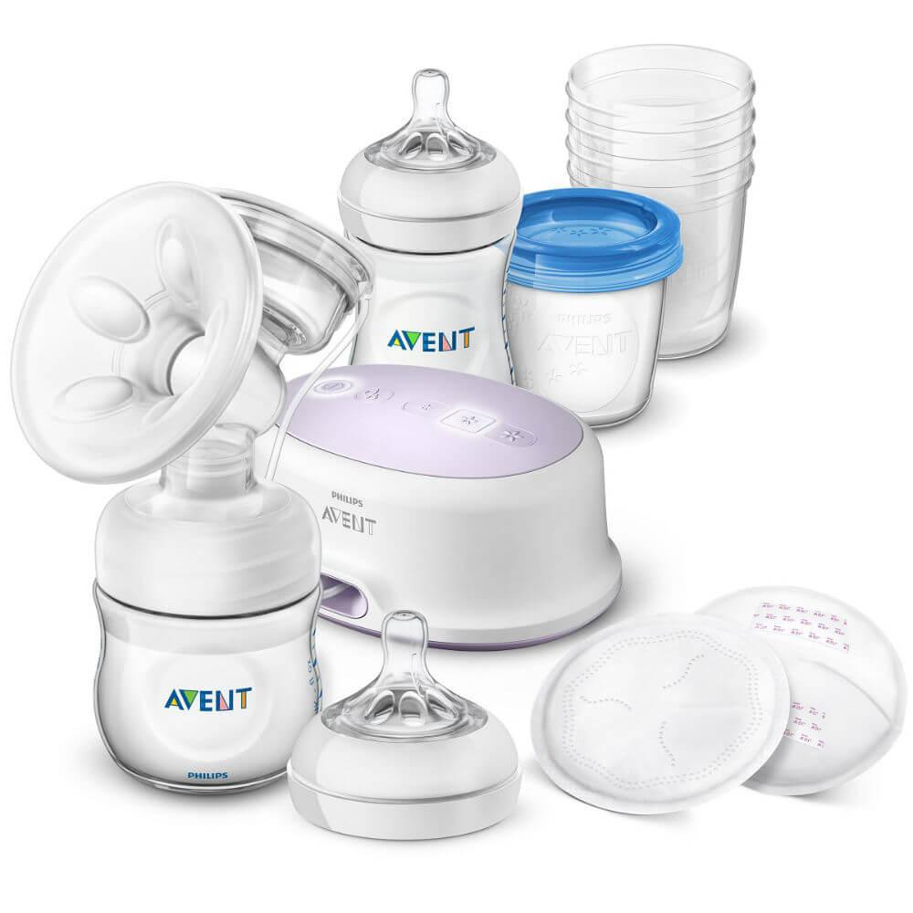 PHILIPS AVENT Sada pro kojení s elektrickou odsávačkou mateřského mléka Natural