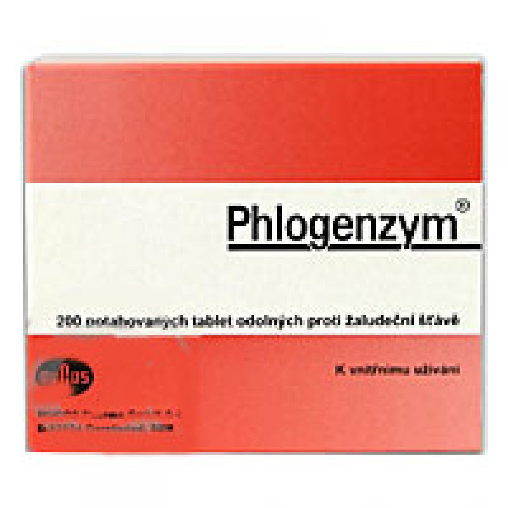 PHLOGENZYM 200 Potahované tablety