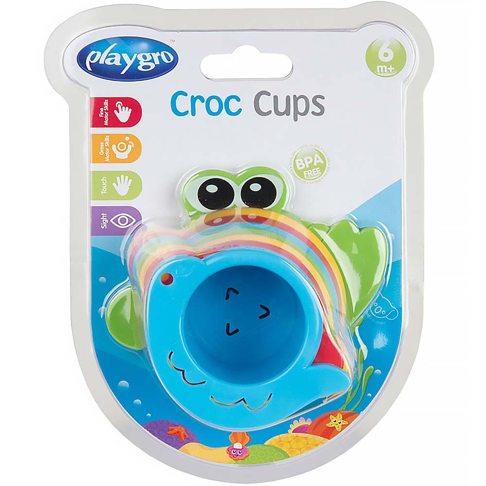 PLAYGRO Vodní misky krokodýl