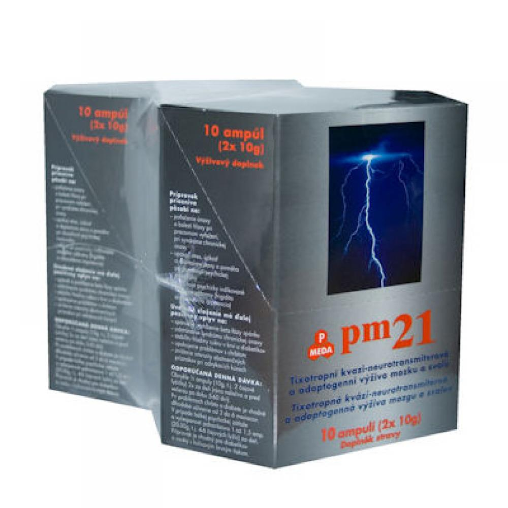 PM 21 pitné ampule 10x20g balení 1+1