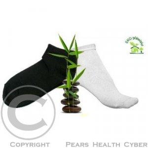 0cbbf4b888f Ponožky z bambusového vlákna černé