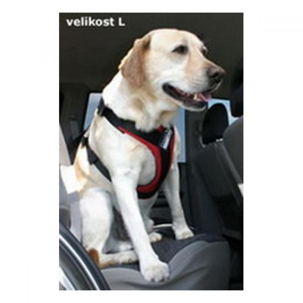 GreenDog Postroj pes Bezpečnostní do auta L červená