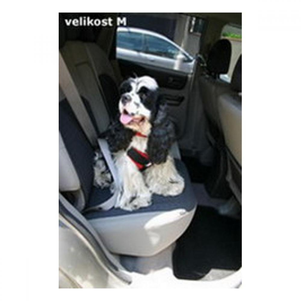 Postroj pes Bezpečnostní do auta GreenDog M červená