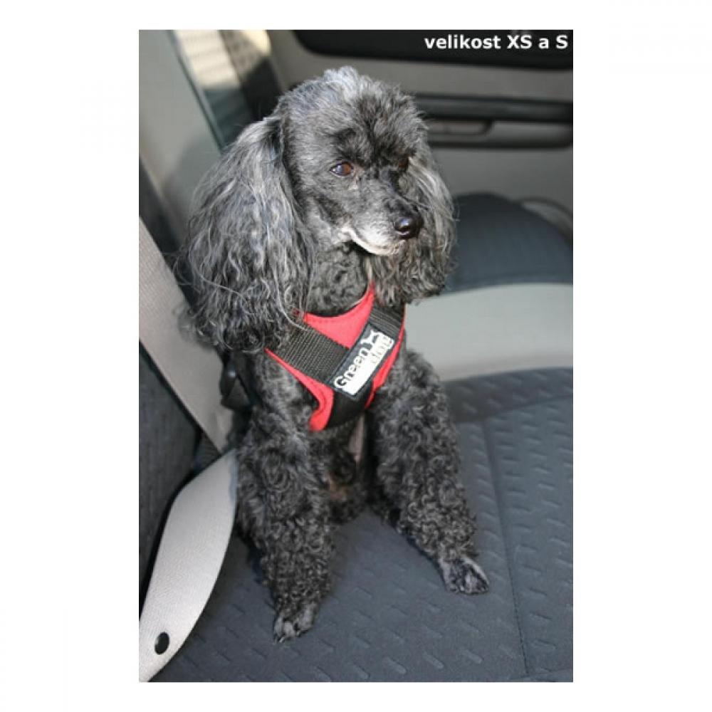 GreenDog Postroj pes Bezpečnostní do auta XS modrá