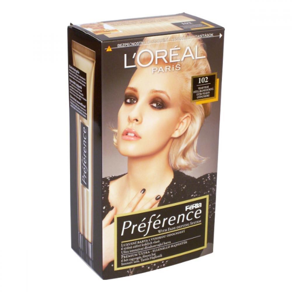 L'ORÉAL Féria Préférence 102 Velmi světlá duhová blond