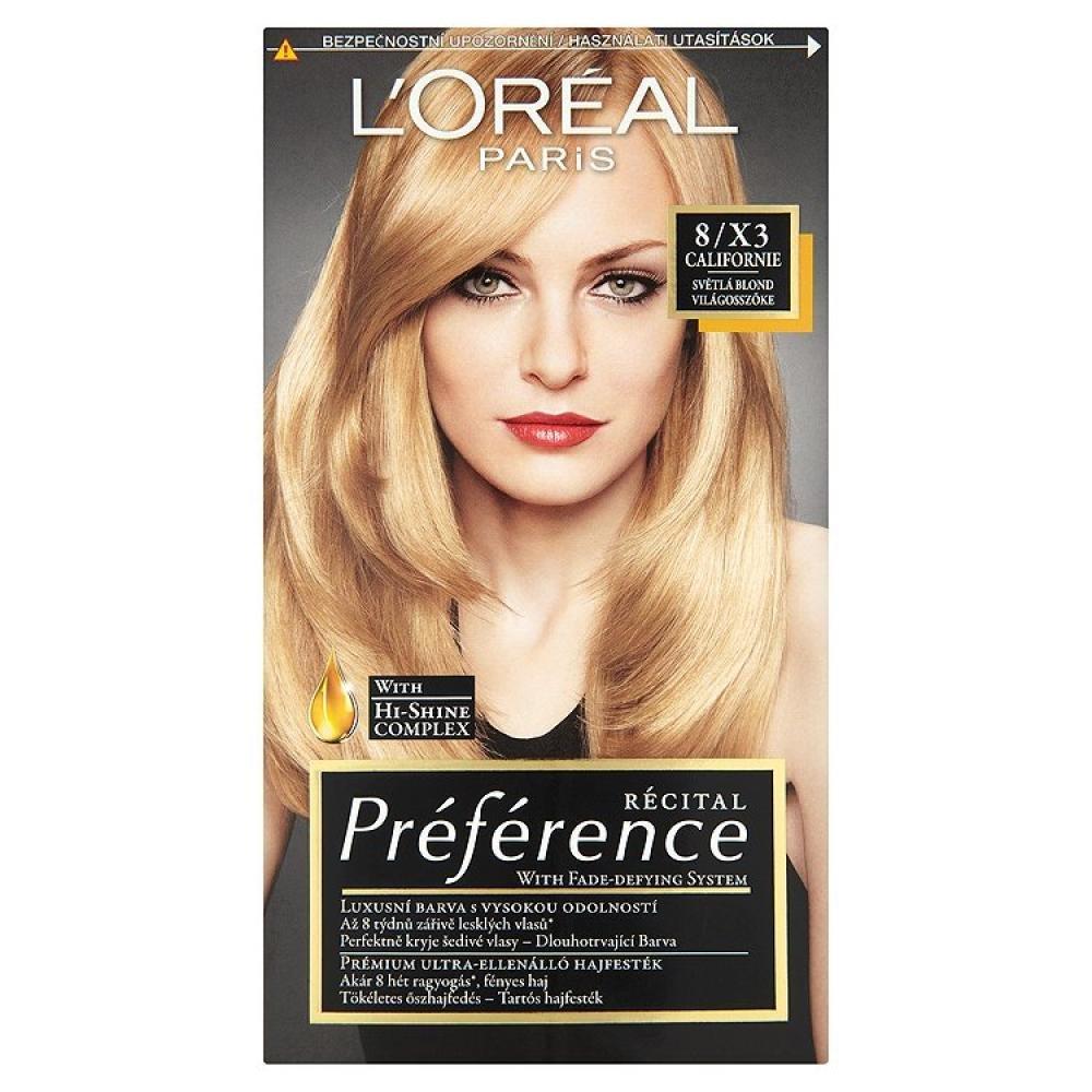L'ORÉAL Récital Préférence 8/X3 Světlá blond