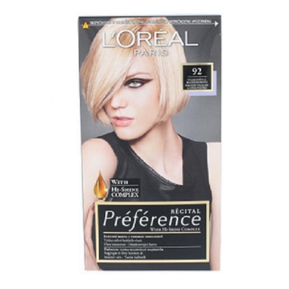 L'ORÉAL Preférence 92 Velmi světlá blond duhová barva na vlasy