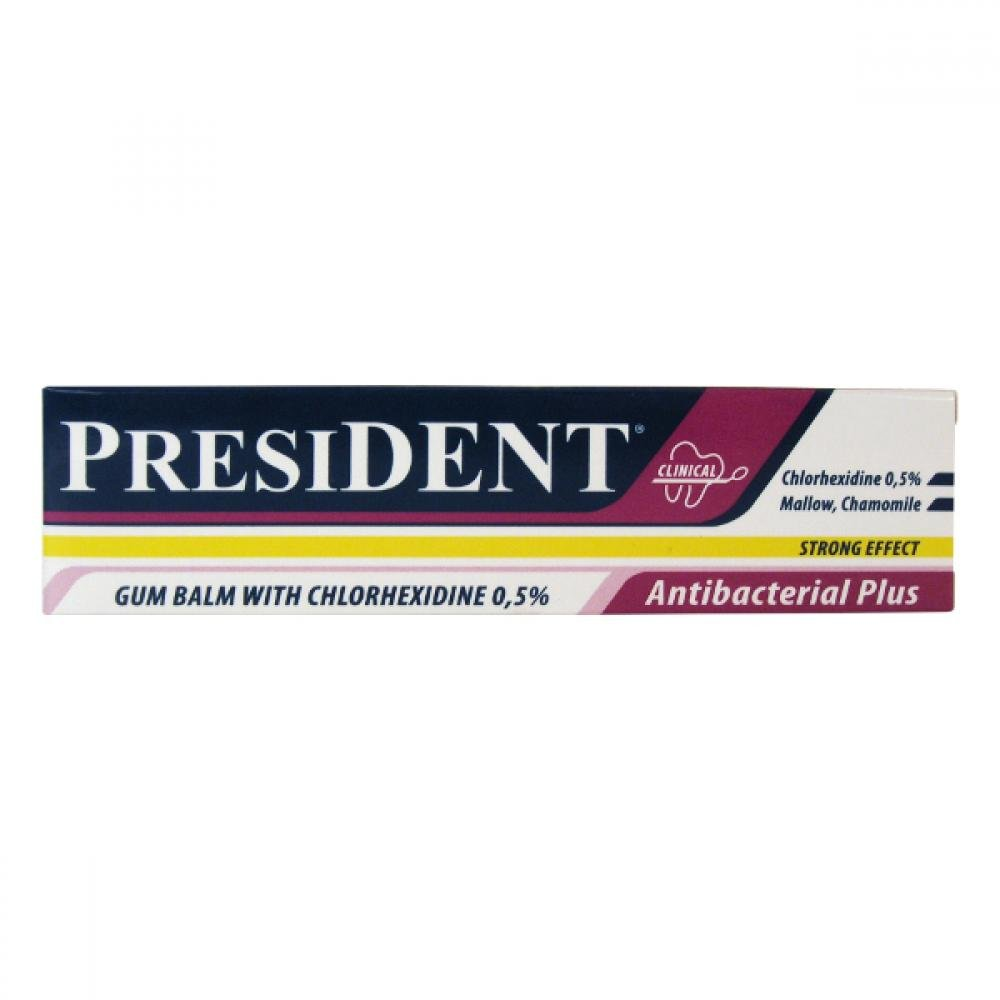 PresiDENT Gel Antibacteriální plus Chlorhexid 0.5% 30ml