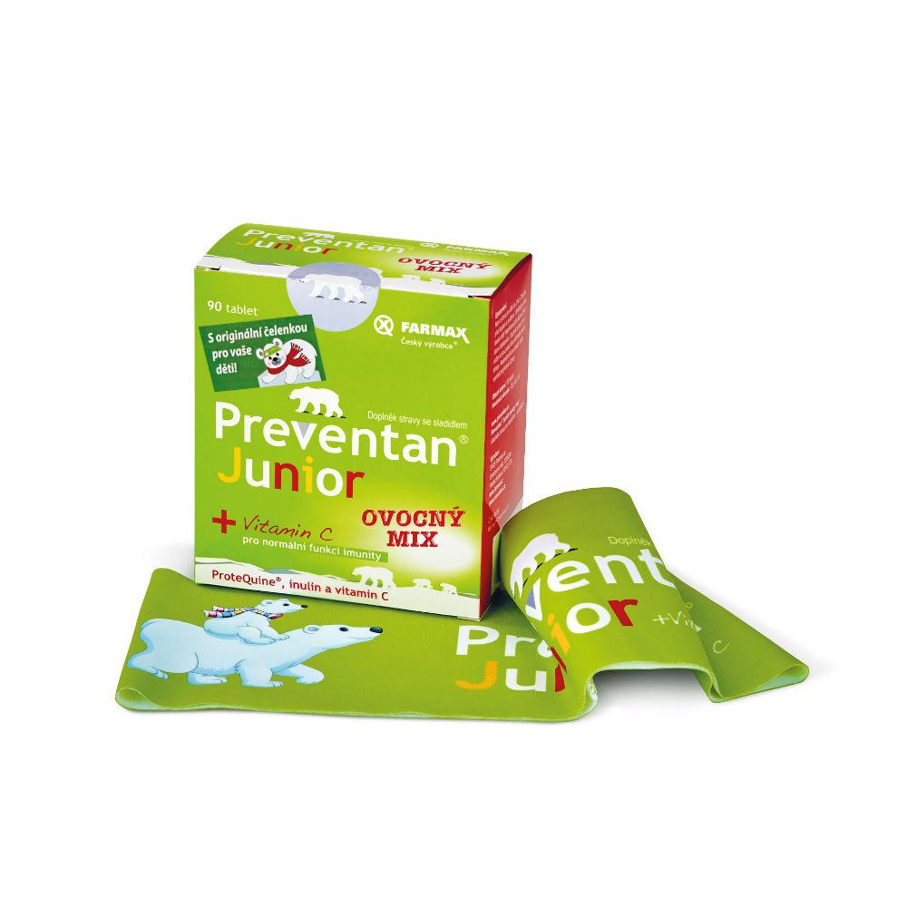 PREVENTAN Junior ovocný mix 90 tablet zimní edice