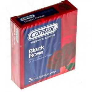 Prezervativ Contex Black Rose 3 ks