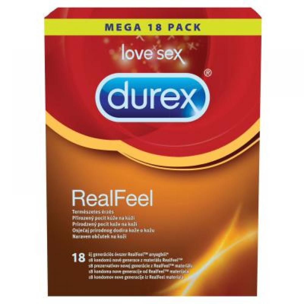 DUREX Prezervativ Real Feel 18 ks
