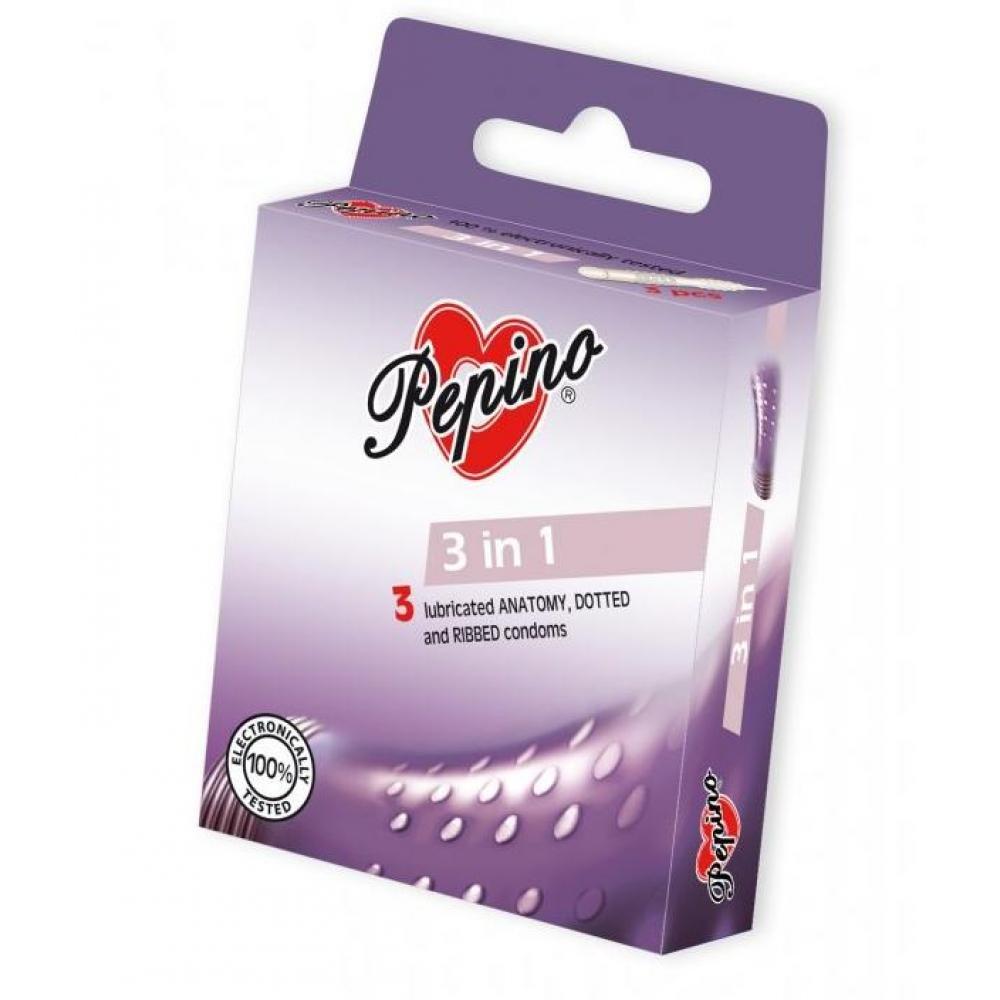 PEPINO prezervativy kondomy 3in1 3 kusy