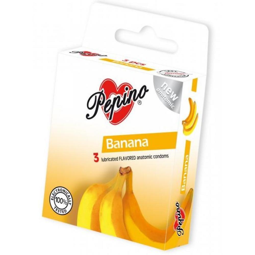 PEPINO prezervativy kondomy banán 3 kusy