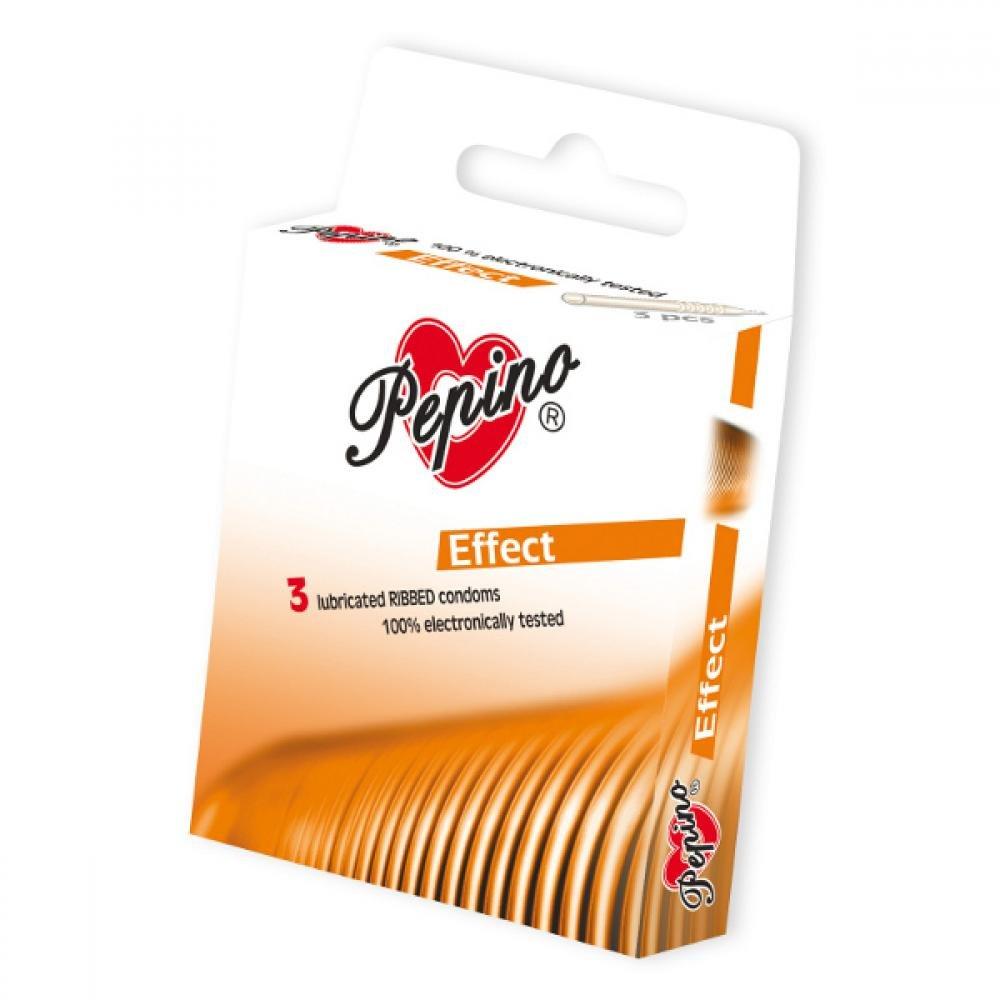 PEPINO prezervativy kondomy s dráždivým efektem 3 kusy