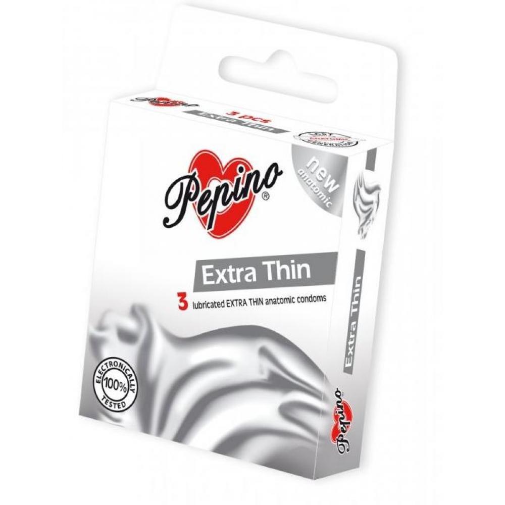 PEPINO prezervativy kondomy Extra Thin 3 kusy