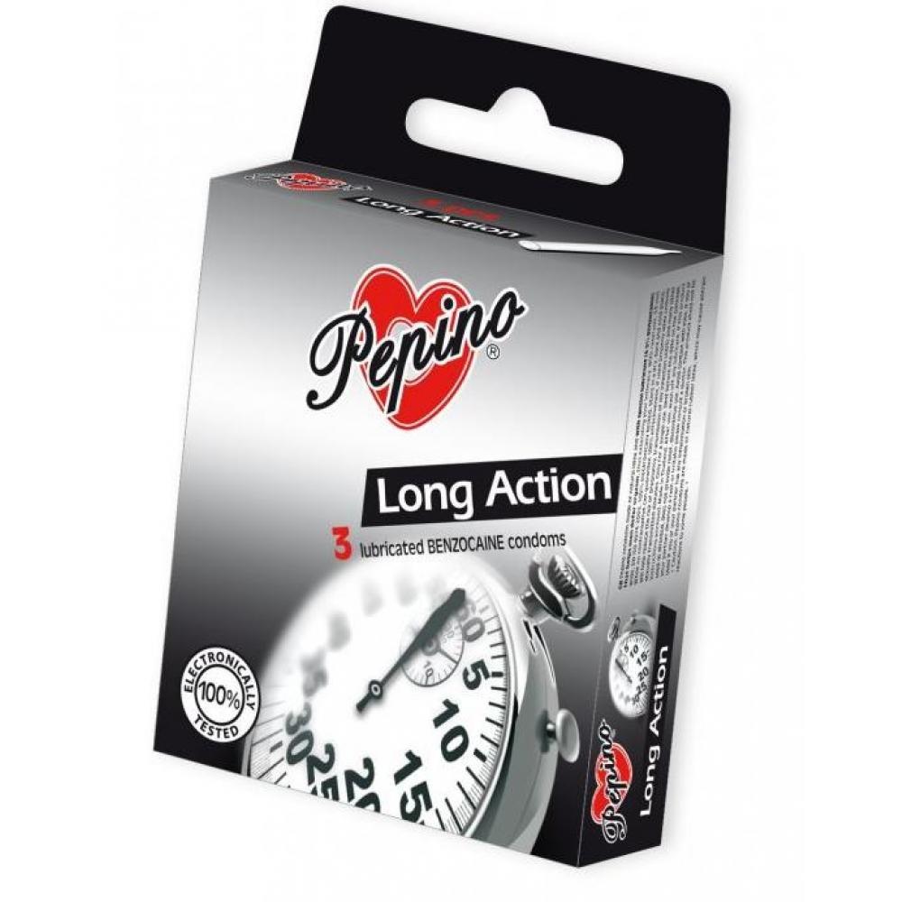 PEPINO prezervativy kondomy Long Action 3 kusy