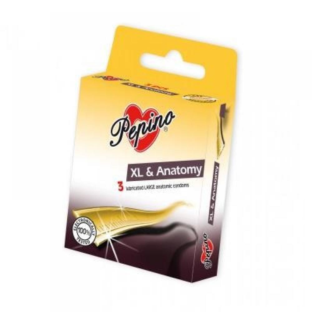 PEPINO prezervativy kondomy XL anatomy 3 kusy