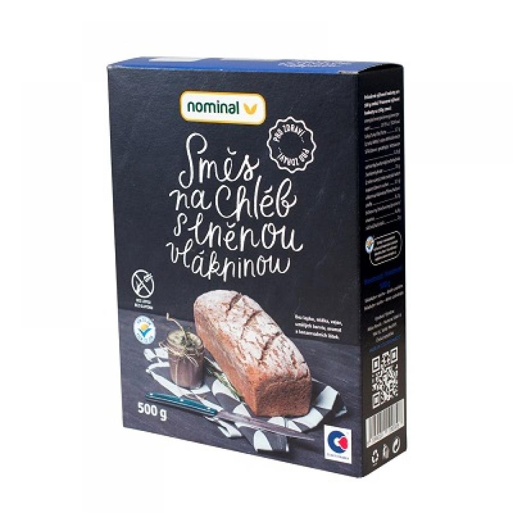 NOMINAL Bezlepková směs na chléb s lněnou vláklinou 500 g