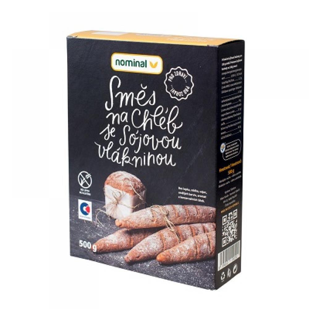 NOMINAL Bezlepková směs na chléb se sojovou vlákninou 500 g