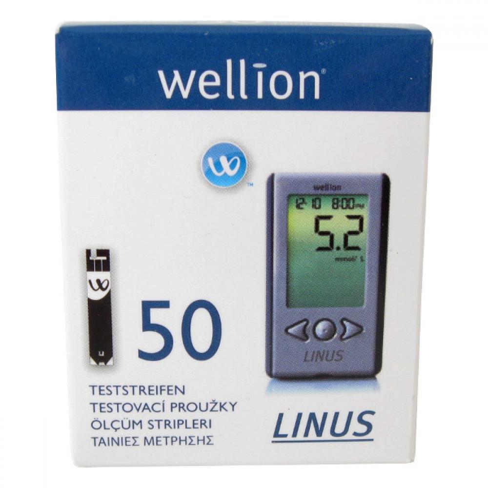 Proužky diagnostické WELLION Linus 50 ks
