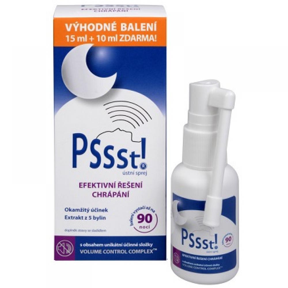 SIMPLY YOU Pssst! Ústní sprej proti chrápání 15 ml + 10 ml ZDARMA