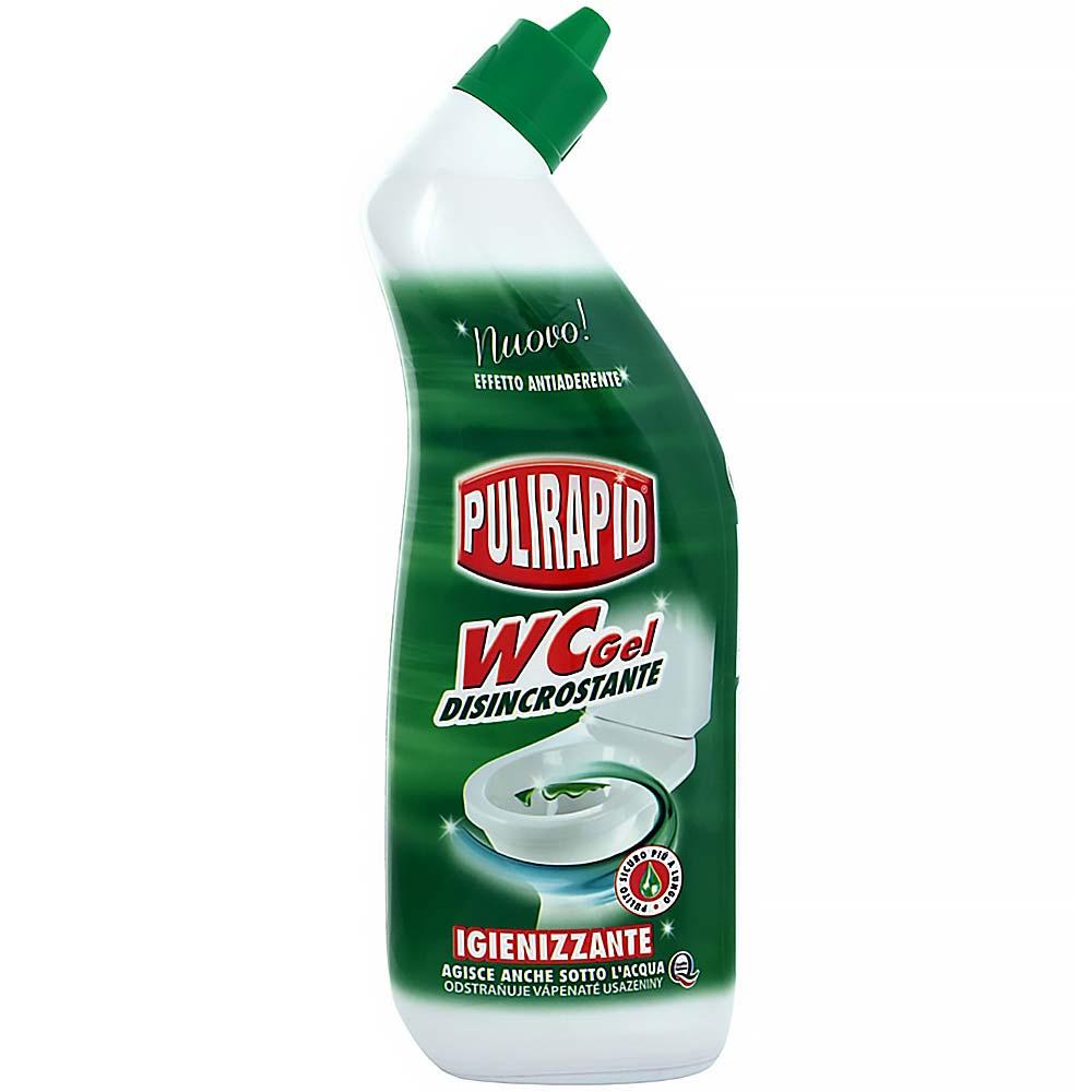 PULIRAPID WC GEL 750 ml (vysoce účinný gelový čistič WC, vůně mandlí)
