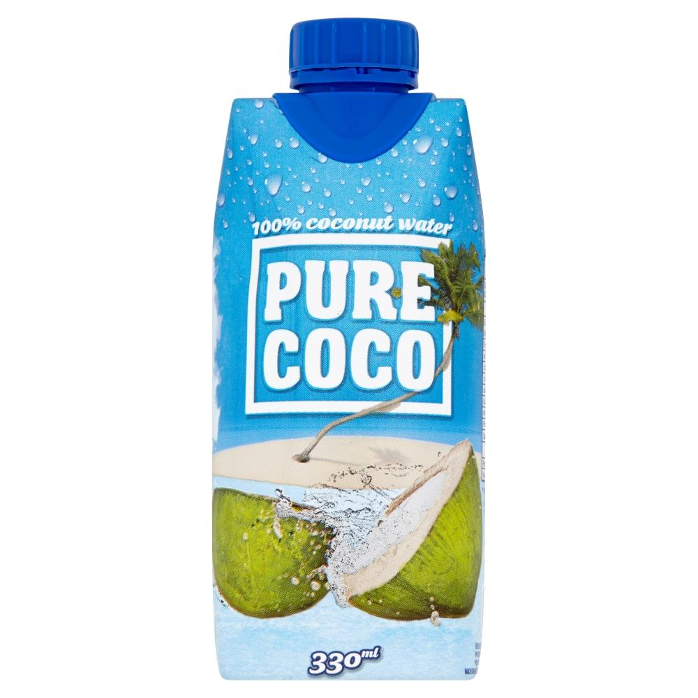 PURE COCO 100% kokosová voda 330 ml
