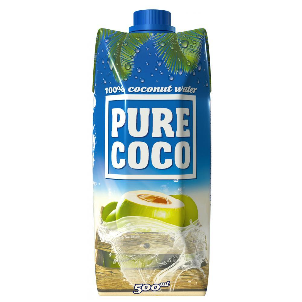 PURE COCO 100% kokosová voda 500 ml