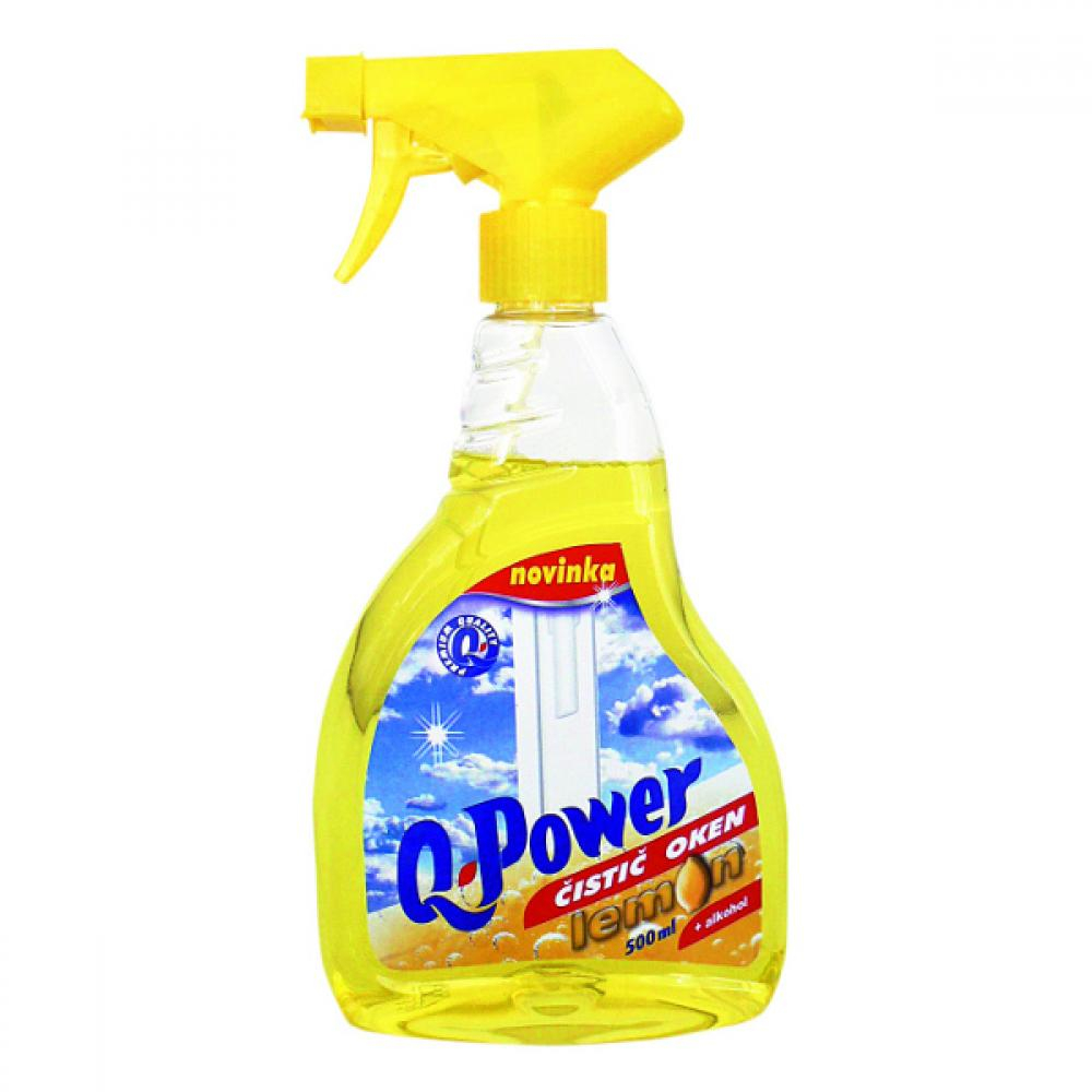 Q power čistič oken 500ml citron