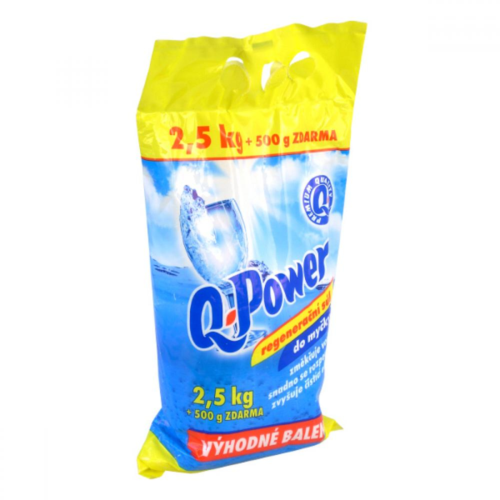 Q power regenerační sůl do myčky 2,5kg+500gzdarma