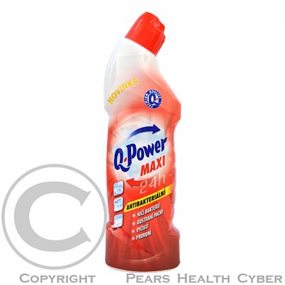 Q power wc čistič 750ml aqua