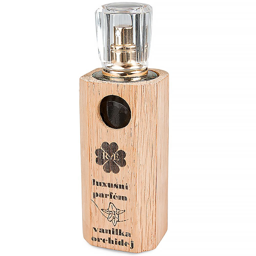 RAE Luxusní parfém vanilka orchidej dřevěný obal 30 ml