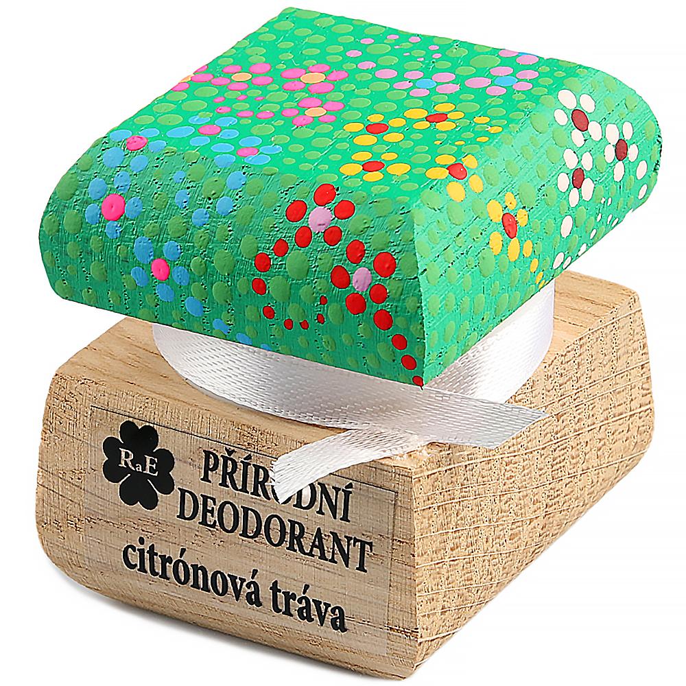 RAE Přírodní krémový deodorant citrónová tráva barevná krabička 15 ml