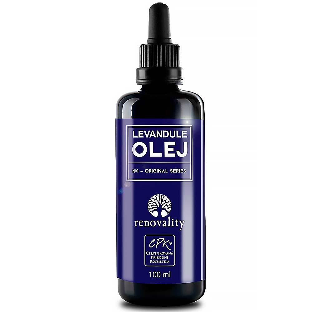 RENOVALITY Tělový a masážní olej Levandule 100 ml s pipetkou