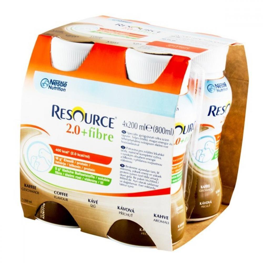 RESOURCE 2,0 kcal Fibre Káva 4x200 ml