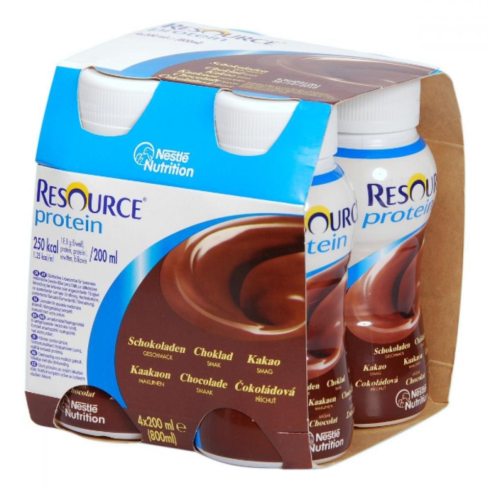 RESOURCE Protein Čokoládový 4x200 ml