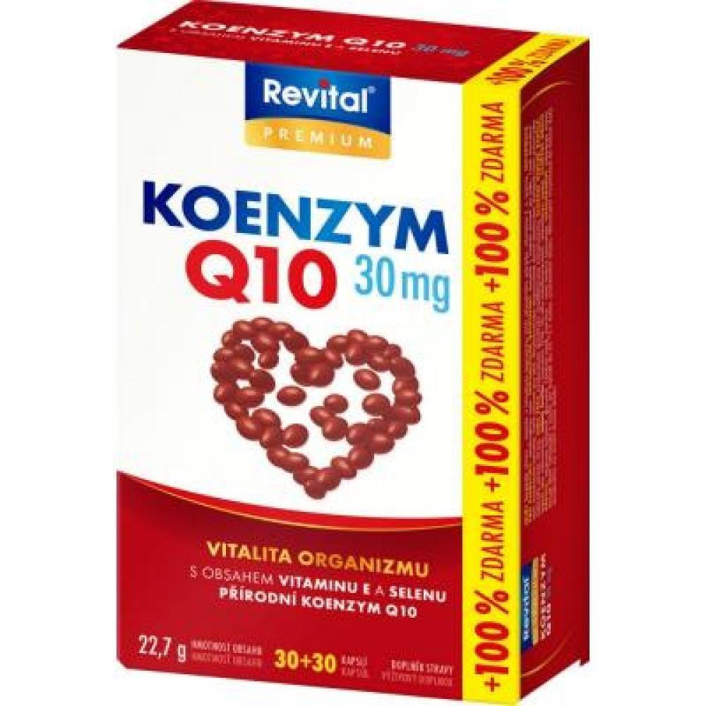 REVITAL Koenzym Q10 30 mg +Selen + vitamin E 30+30 kapslí ZDARMA