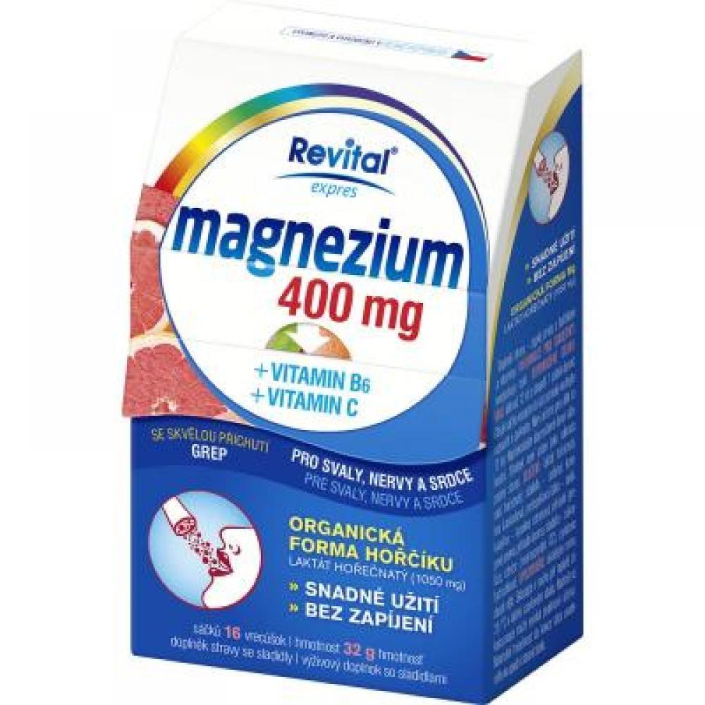 REVITAL Magnezium 400mg + vitamin B6 + vitamin C 16 sáčků