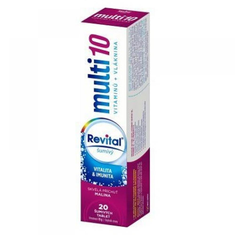 VITAR Revital Multi Malina šumivé tablety 20 ks