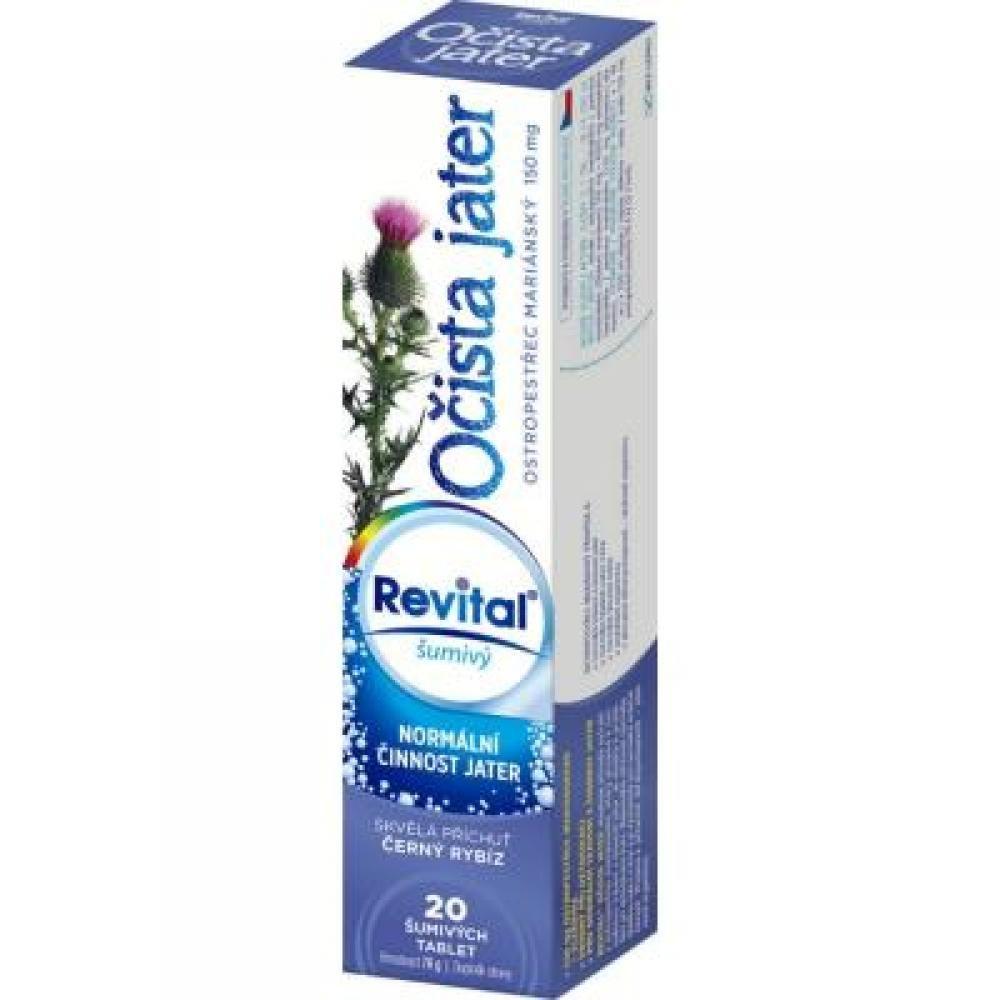 REVITAL Očista jater – ostropestřec 20 šumivých tablet