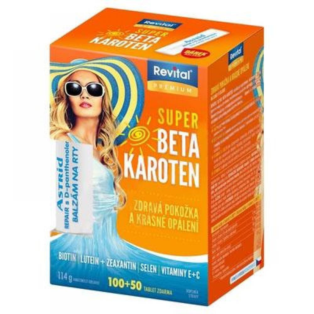 REVITAL Super Beta-karoten 100+50 tablet + balzám Astrid