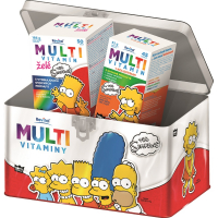REVITAL The Simpsons Multivitaminy v plechové dóze 50 želé + 45 tablet